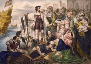 Cristóbal Colón era un un personaje importante de la época de la colonia porque descubrió Los Américas.
