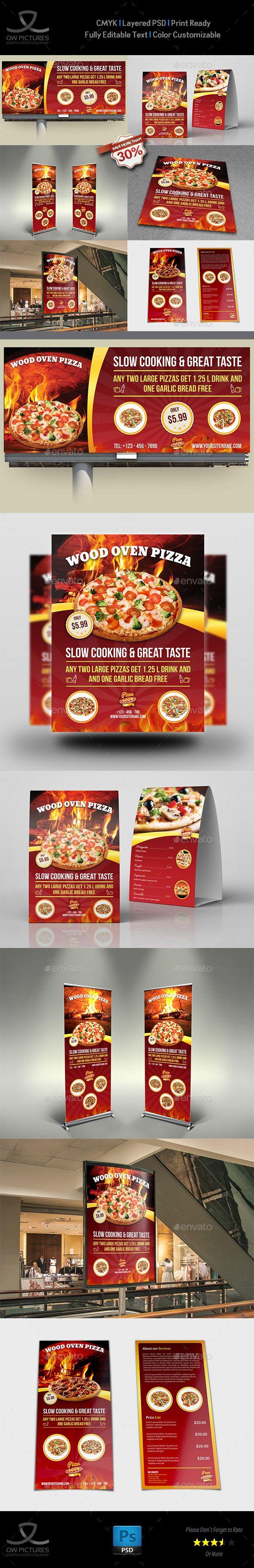 Pizza Restaurant Advertising Bundle Vol.2 by OWPictures Advertising Bundle Descr...