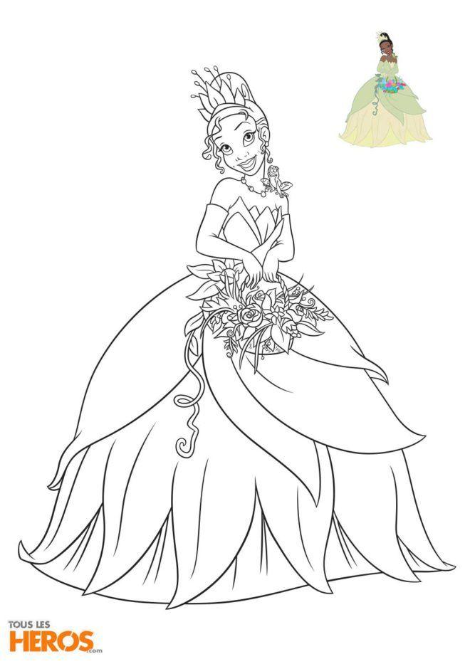 Coloriage Disney Princesse Tiana Du Film La Princesse Et