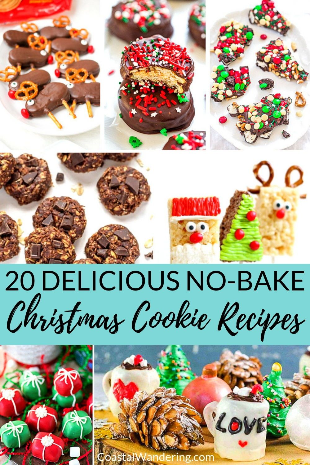 20 Delicious No Bake Christmas Cookies Food Crafts Christmas