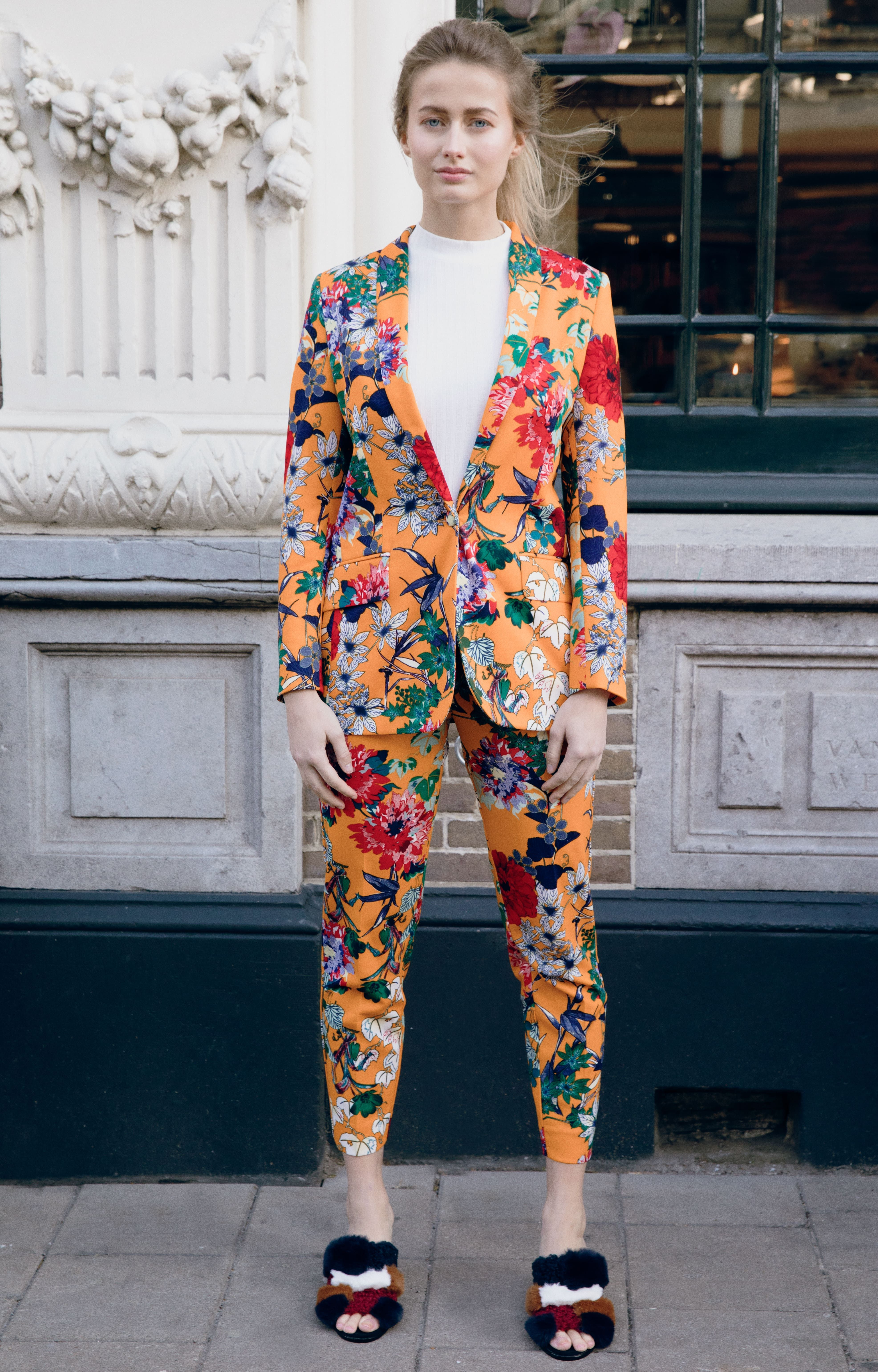 0eb41cce Orange flower blossom suit new collection women suits | Fashion ...