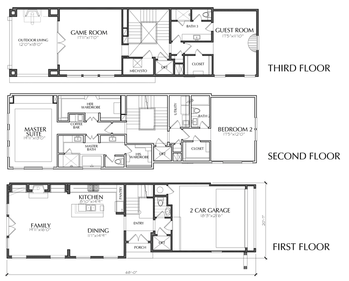 Dallas townhouse floor plans for sale apartments for Luxury townhome plans