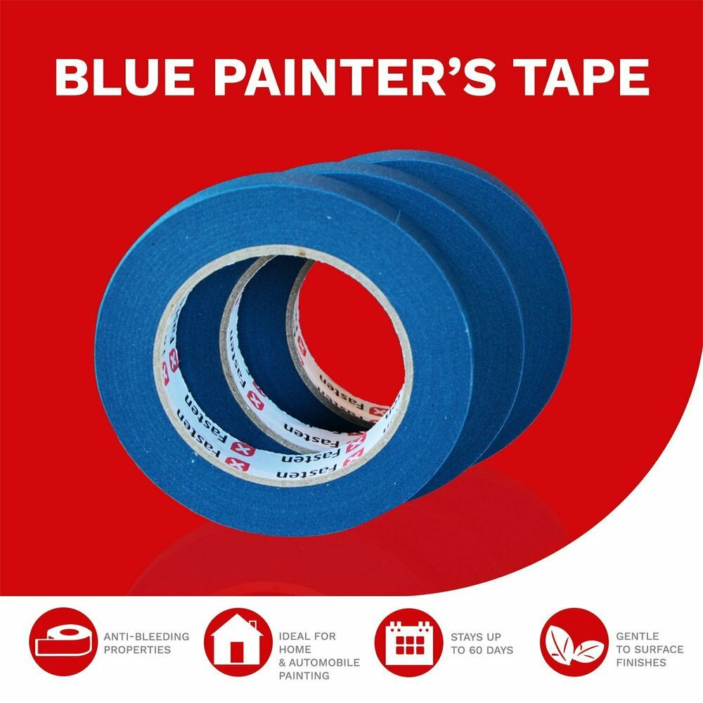 Professional Blue Painters Tape Multi Use Prevents Paint Bleeding Pack Of 3 Xfasten With Images Painters Tape