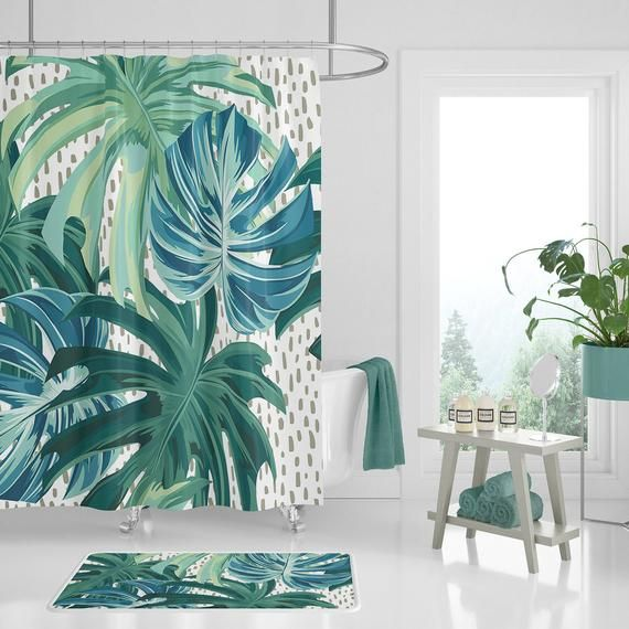 Shower Curtain Set Blue And Green Bathroom Create Your Own Set
