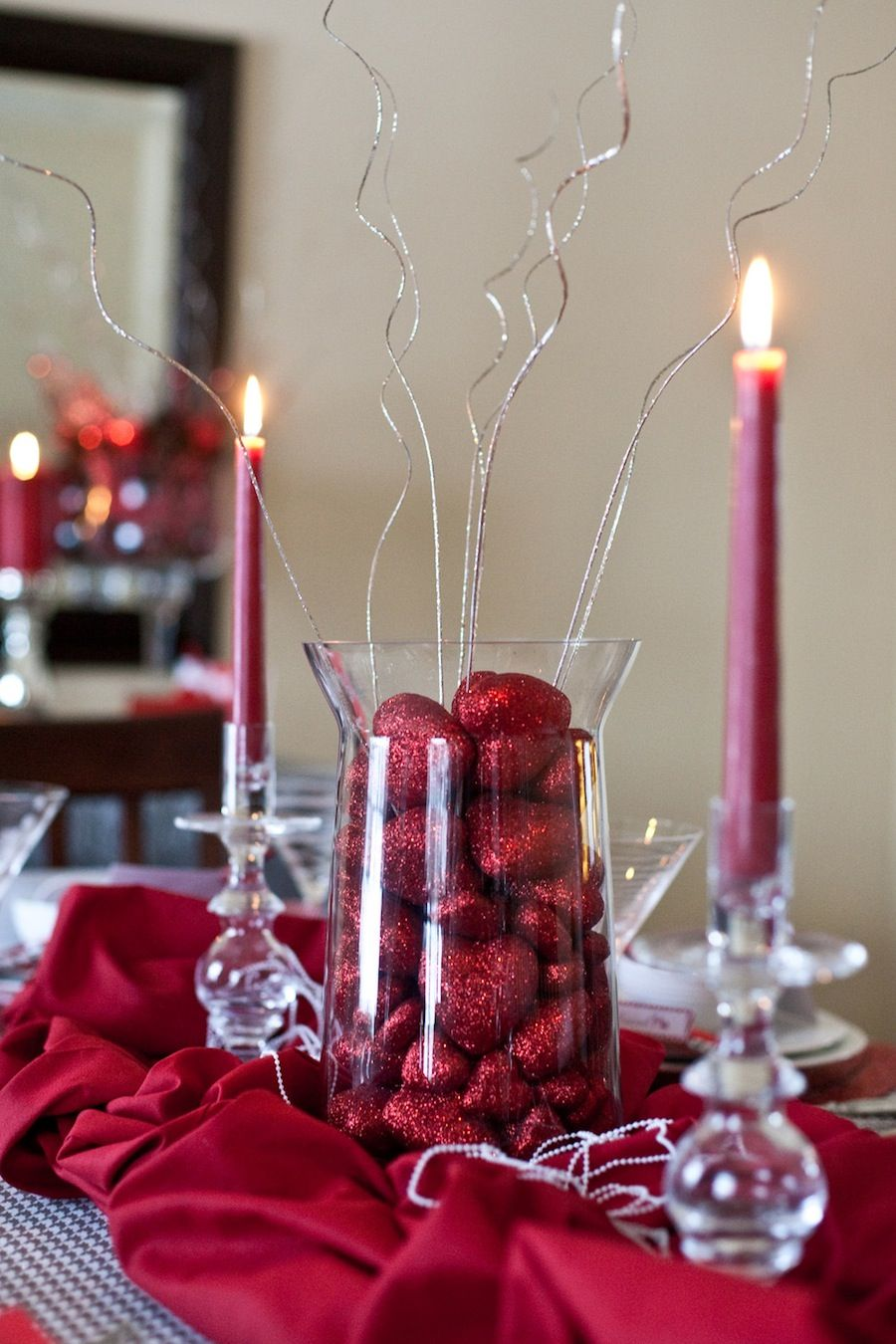 Valentines Centerpiece Look At Dollar Store For Red Hearts