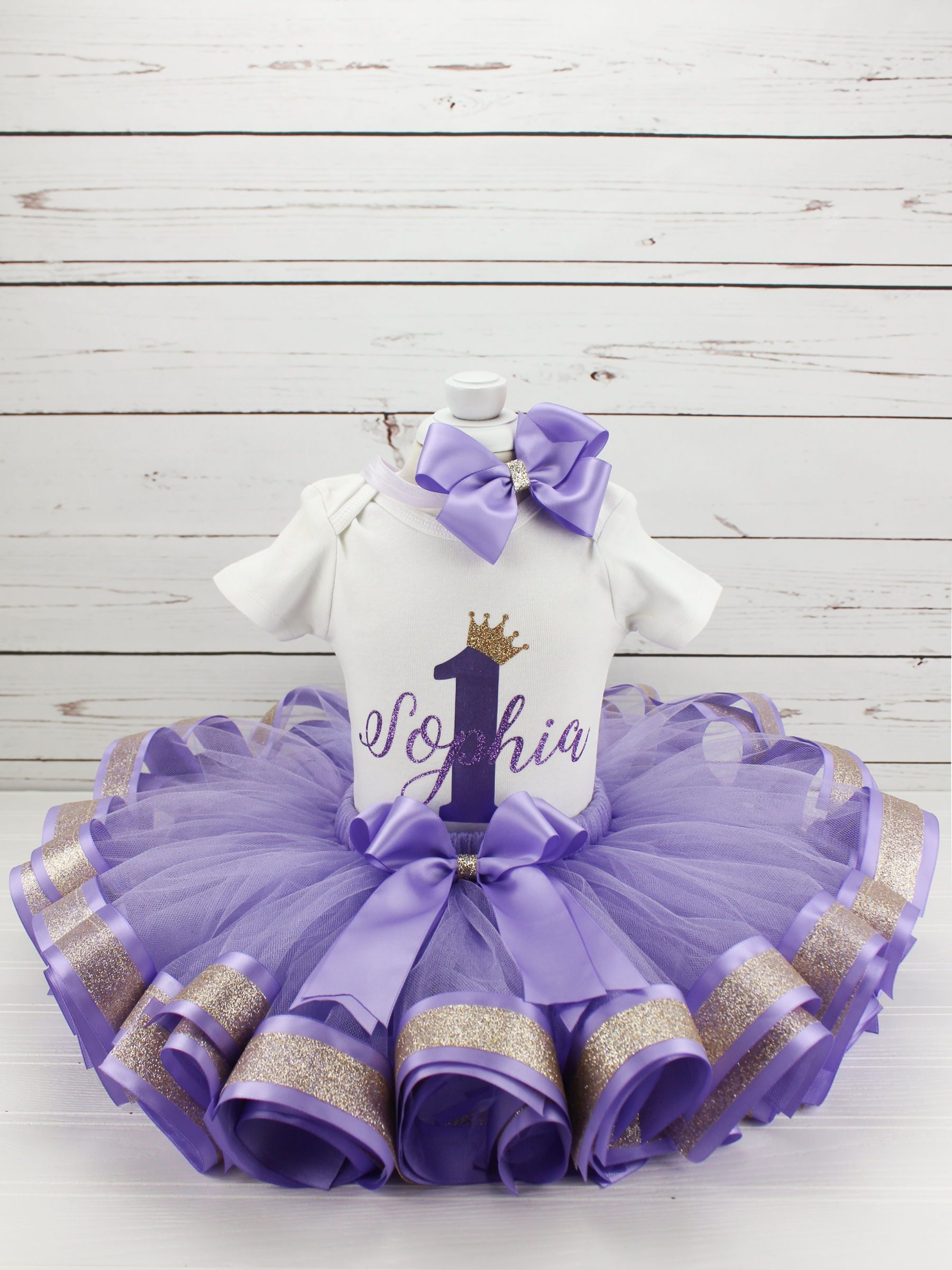 Purple and Gold first birthday outfit,first birthday outfit,first birthday girl outfit,birthday tutu,Purple tutu,girl birthday outfit