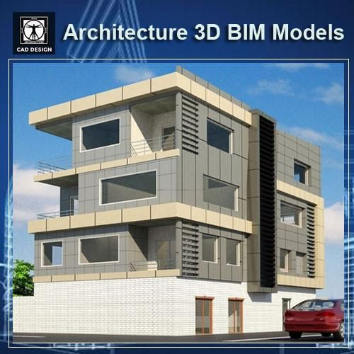 Download This Architecture Bim 3D Models(*.Rvt File Format,For