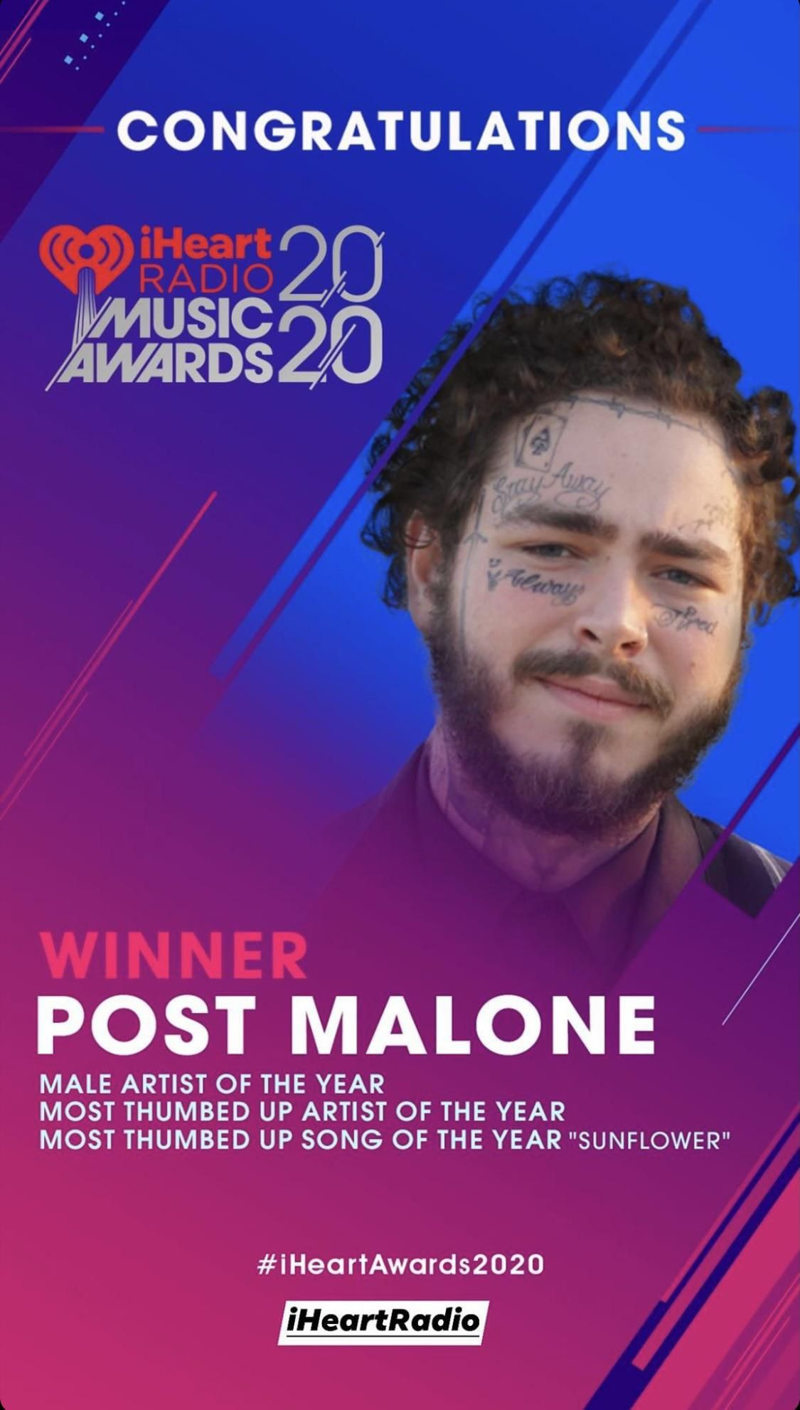 Male Artist Of The Year Iheartradio2020 Music Awards Song Artists Male Artist Music Awards