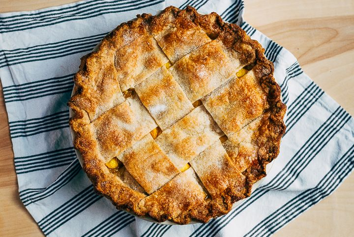 wide lattice peach pie with tarragon butter // brooklyn supper