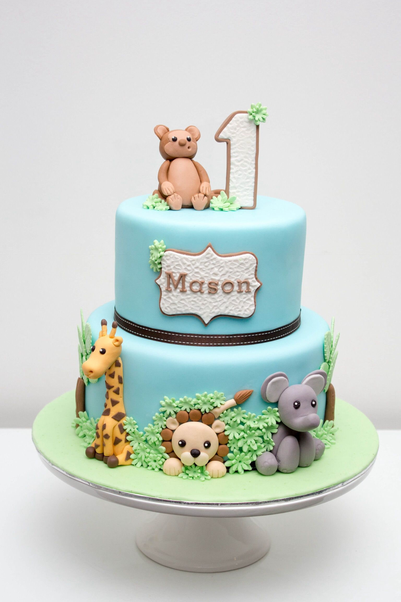 Jungle Birthday Cake Baby Boy Birthday Cake Baby Birthday Cakes
