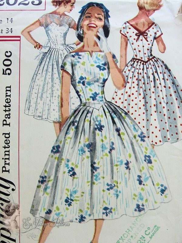 40s Inspired Dress Patterns 1940s Lovely Party Evening Dress New 50s Style Dress Patterns