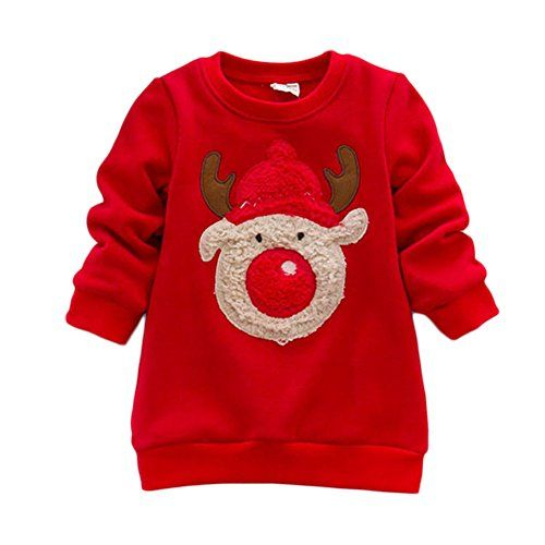 Losorn Baby Girl Christmas Sweater Warm Cotton Pullover ...
