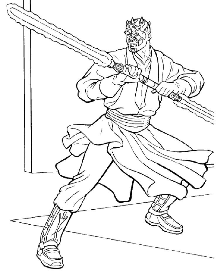 star wars coloring pages darth maul Star wars coloring