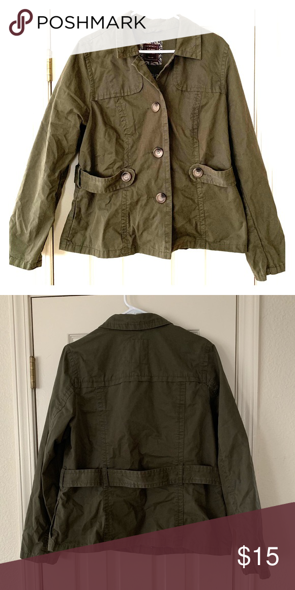 189a722c4f7df Old Navy Canvas Jacket Old Navy canvas jacket, olive green, EUC Old Navy  Jackets & Coats