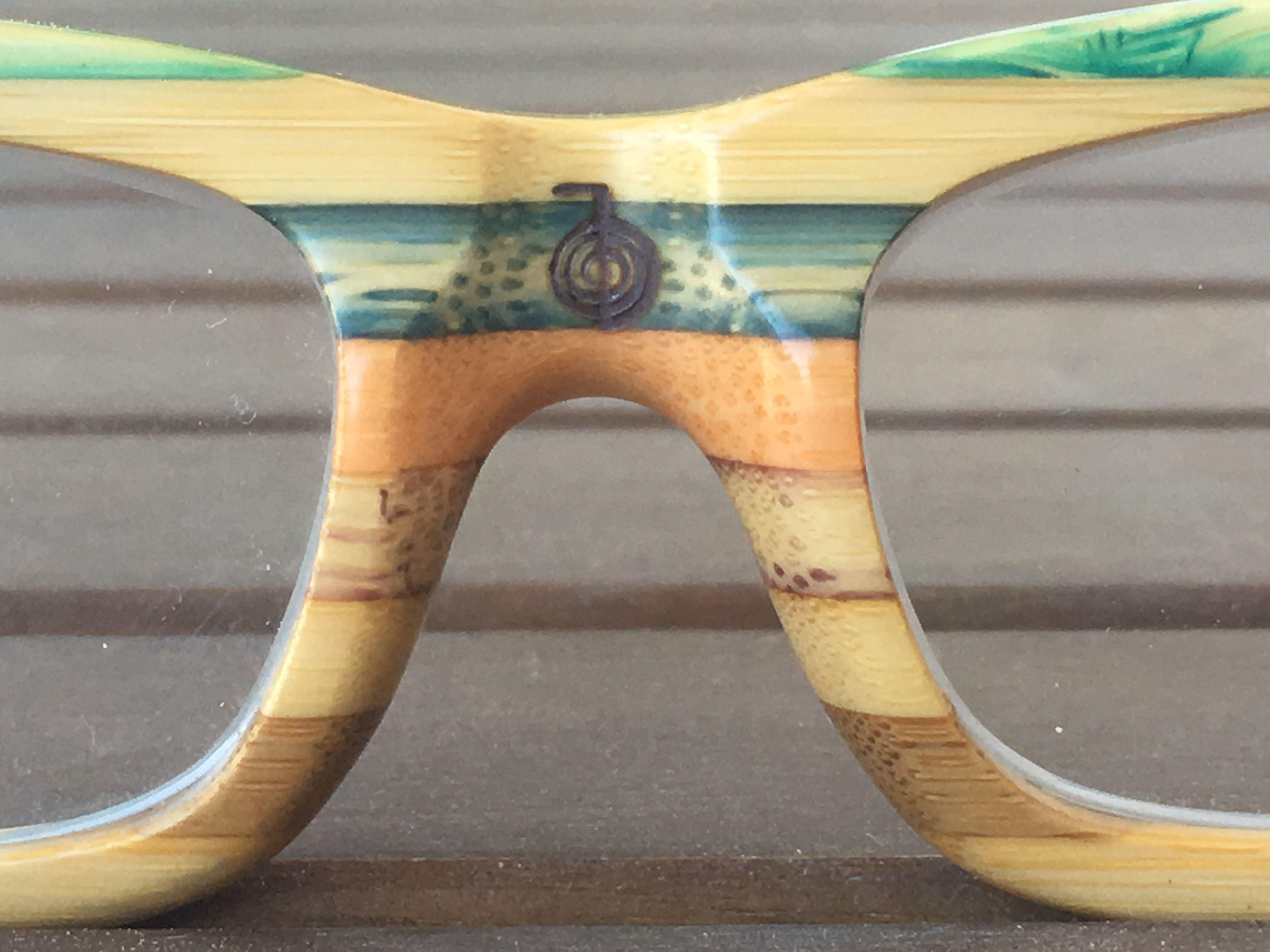 ba83aefc55 Gafas de madera de bambú Soniapew Mod Rainbow Bioenergéticas. Grabado y  consagrado por la técnica