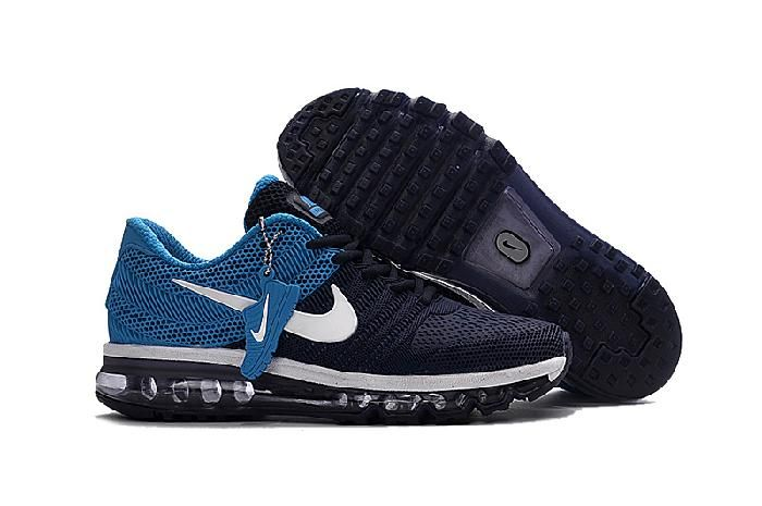 Nike Air Max 2017 Blue Black Mens Running Shoes Outlet 849560 402 - :  Athletic Shoes Outlet Global: Nike, Adidas, New Balance