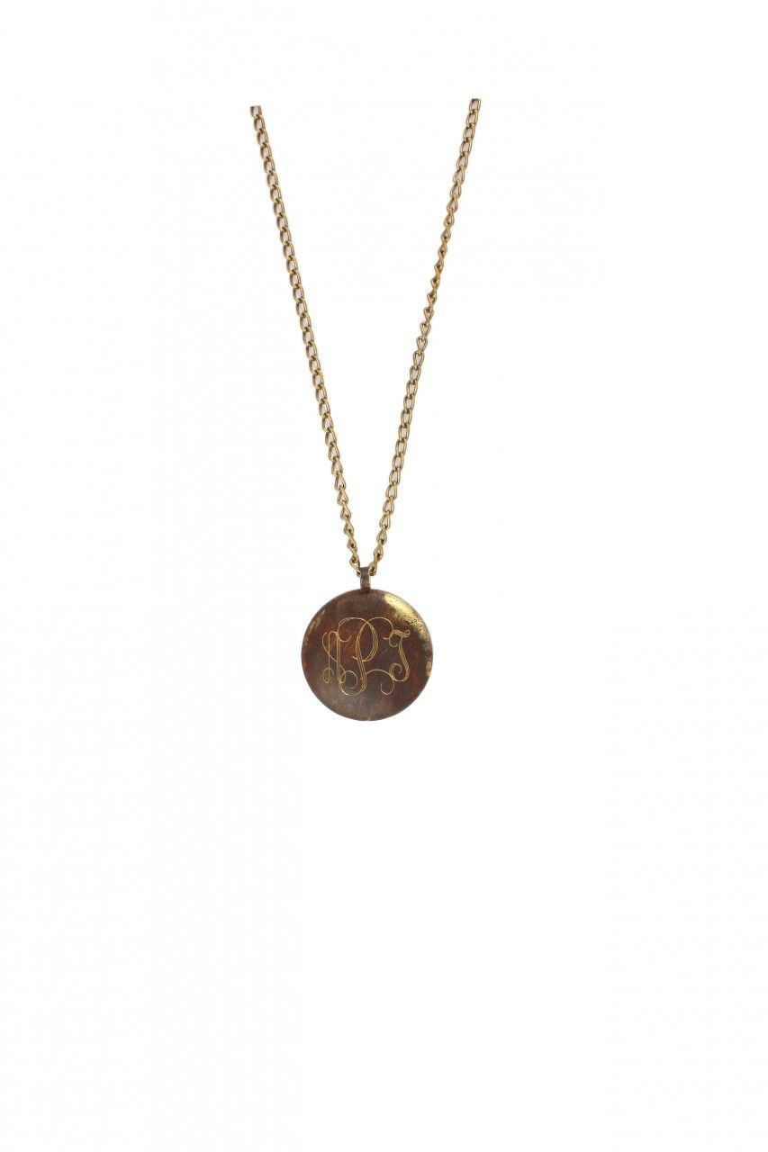 Doodle Bug Designs - Tuscany Domed Round Patina Brass Pendant