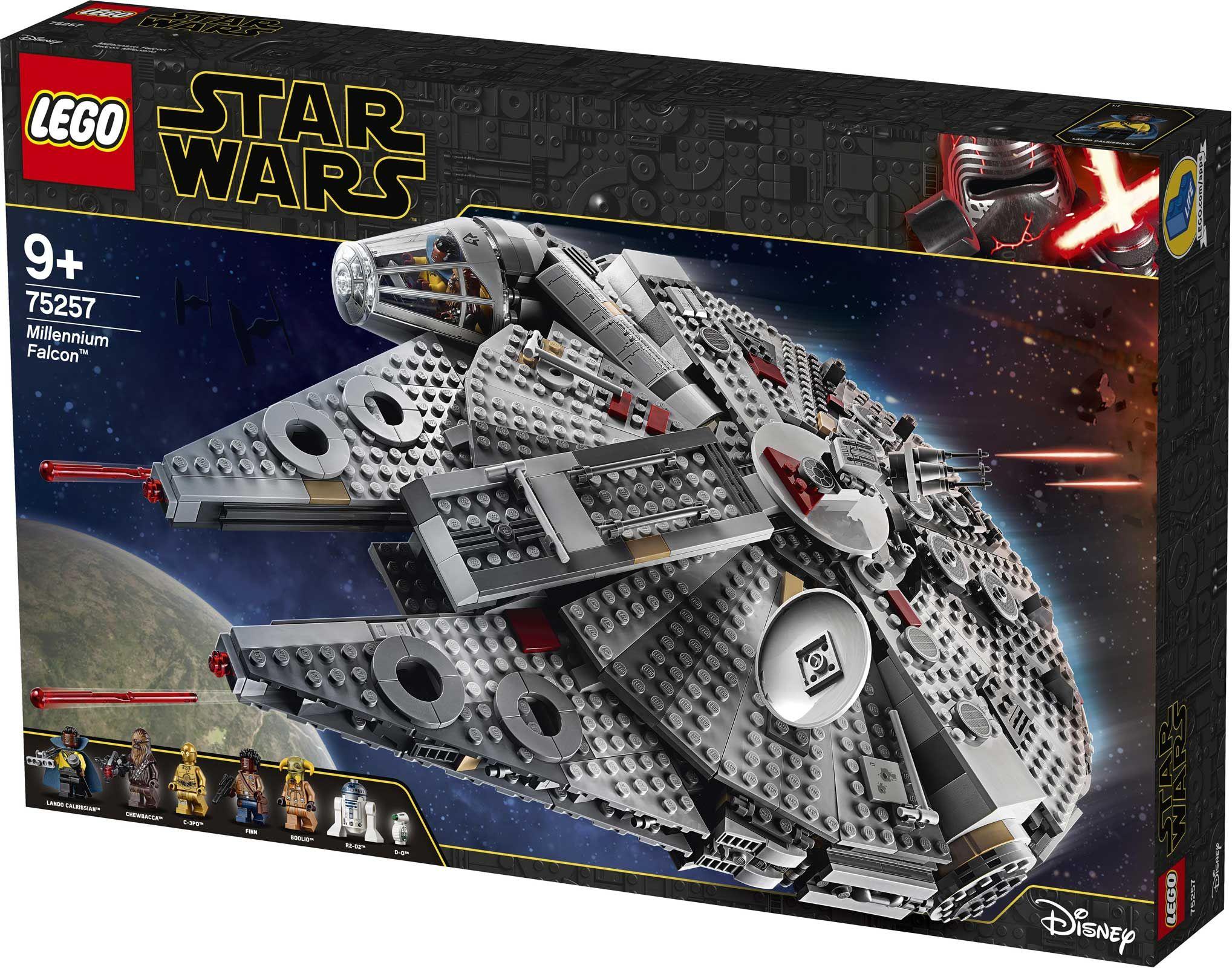 Lego Star Wars 75257 Millennium Falcon Alle Bilder Und Infos Lego Star Wars Lego Star Wars Sets Lego Star