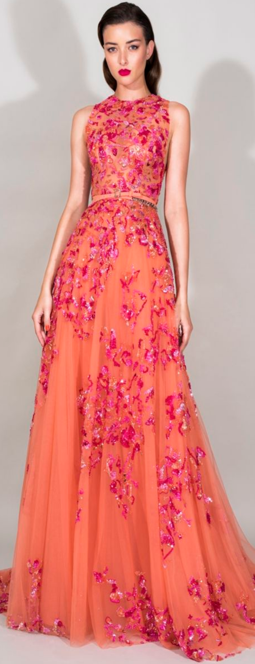 My Pink Orange World Mix šaty Pinterest Zuhair Murad - Models wearing amazing dresses in the worlds most beautiful locations