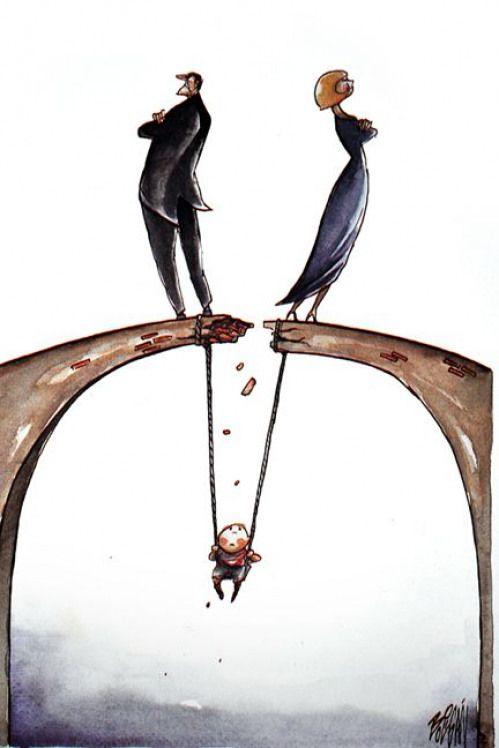 Angel Boligan Divorce With Images Karikatura