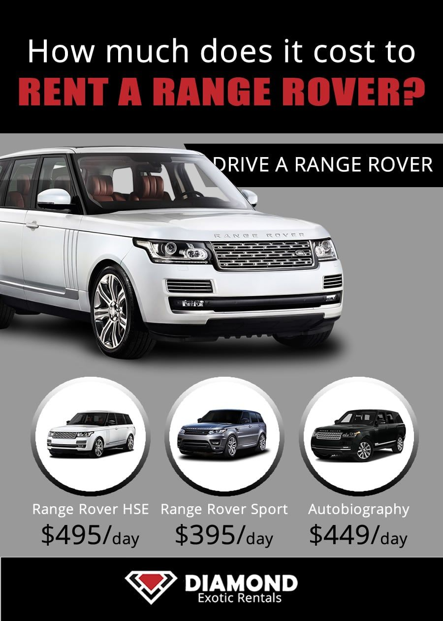Range Rover Rental Prices For Miami Nyc Vegas And Los Angeles These Are Average Prices For Actual Pricing Pl Car Rental Sports Car Rental Classic Car Rental