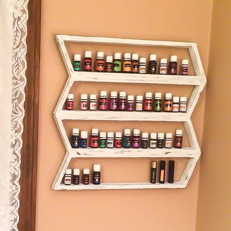 Storage Ideas For Essential Oils: Essential Oil Shelf, Oil Storage, Boho Decor, Oil Shelf