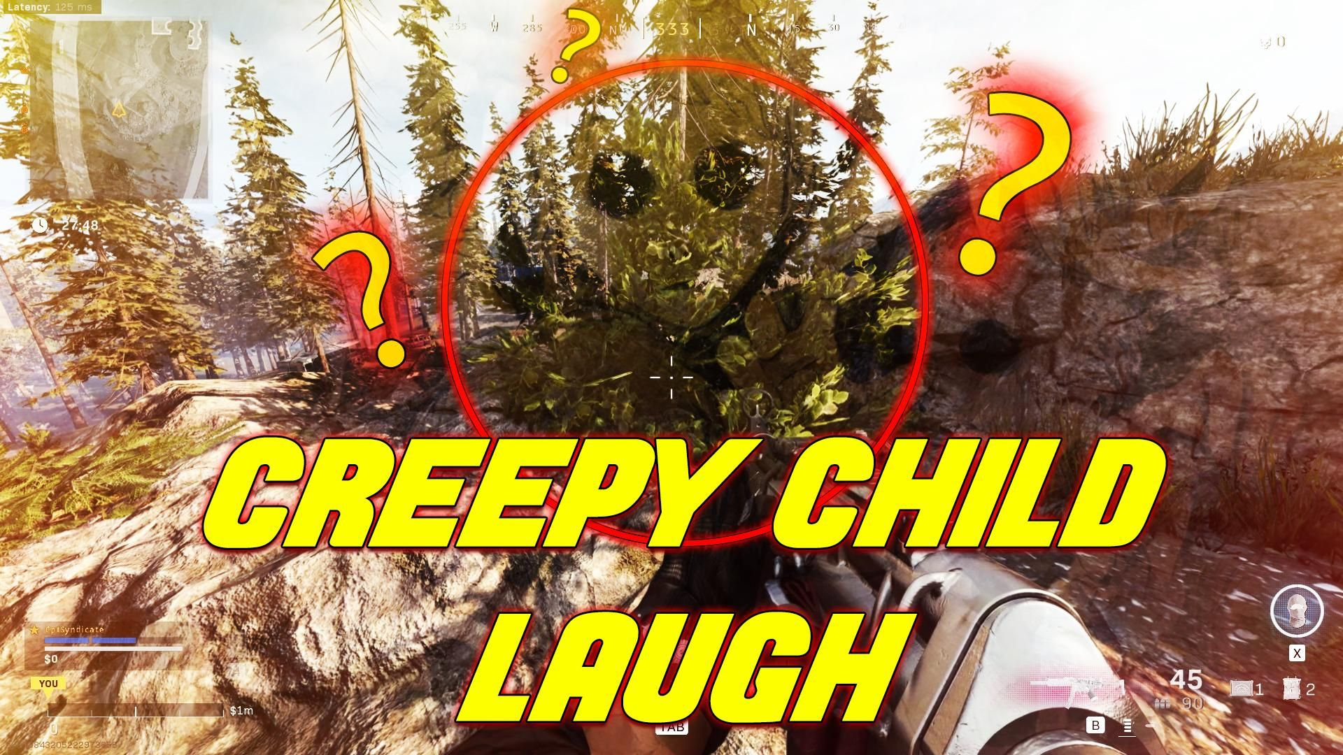 Creepy Child Laughing In Cod Warzone Video Creepy Kids First Person Shooter Games Kids Laughing