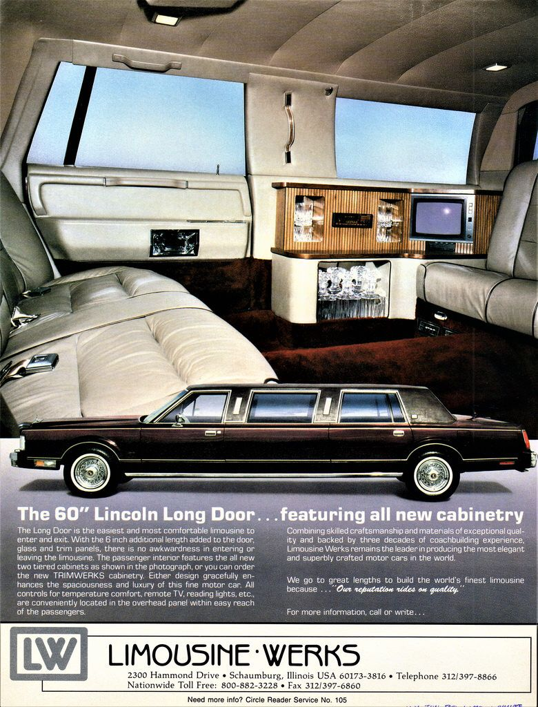 1988 Lincoln Continental Town Car 60 Long Door Limousine By