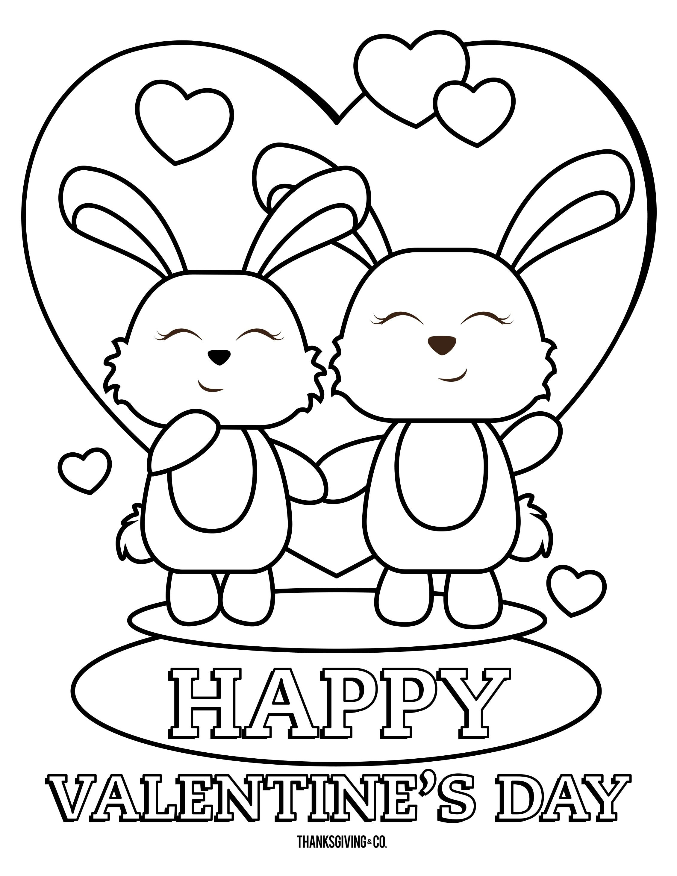 4 Free Valentine S Day Coloring Pages For Kids Bunny Coloring Pages Valentines Day Coloring Page Valentine Coloring Pages