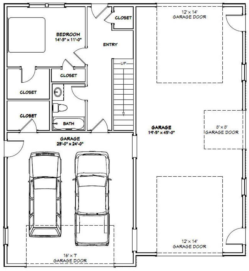 44x48 House 2Bedroom 2.5Bath 1666 sq ft PDF Floor Etsy