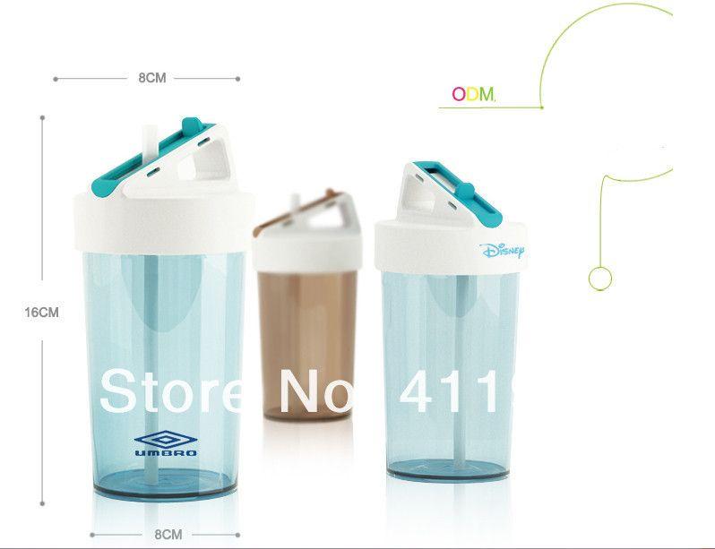 Aliexpress.com의 Home & Garden 제공 Water Bottles의 2014 새로운 환경 친화적 인 음료 용기 4 색 350 ML PP creativetransparent 플라스틱 밀짚 물 병. 대답 28