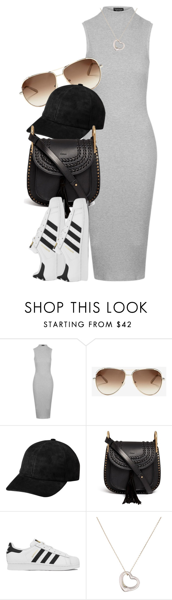 """""""Chloe x Topshop"""" by muddychip-797 ❤ liked on Polyvore featuring Topshop, Chloé, adidas, Tiffany & Co., chloe, fashionset and Topshopstyle"""