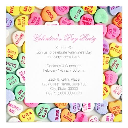 Day Party Invitations - valentines day invitations