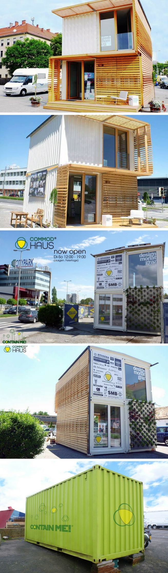 Container Haus Graz Commod Shipping Container House Art Space Pinterest