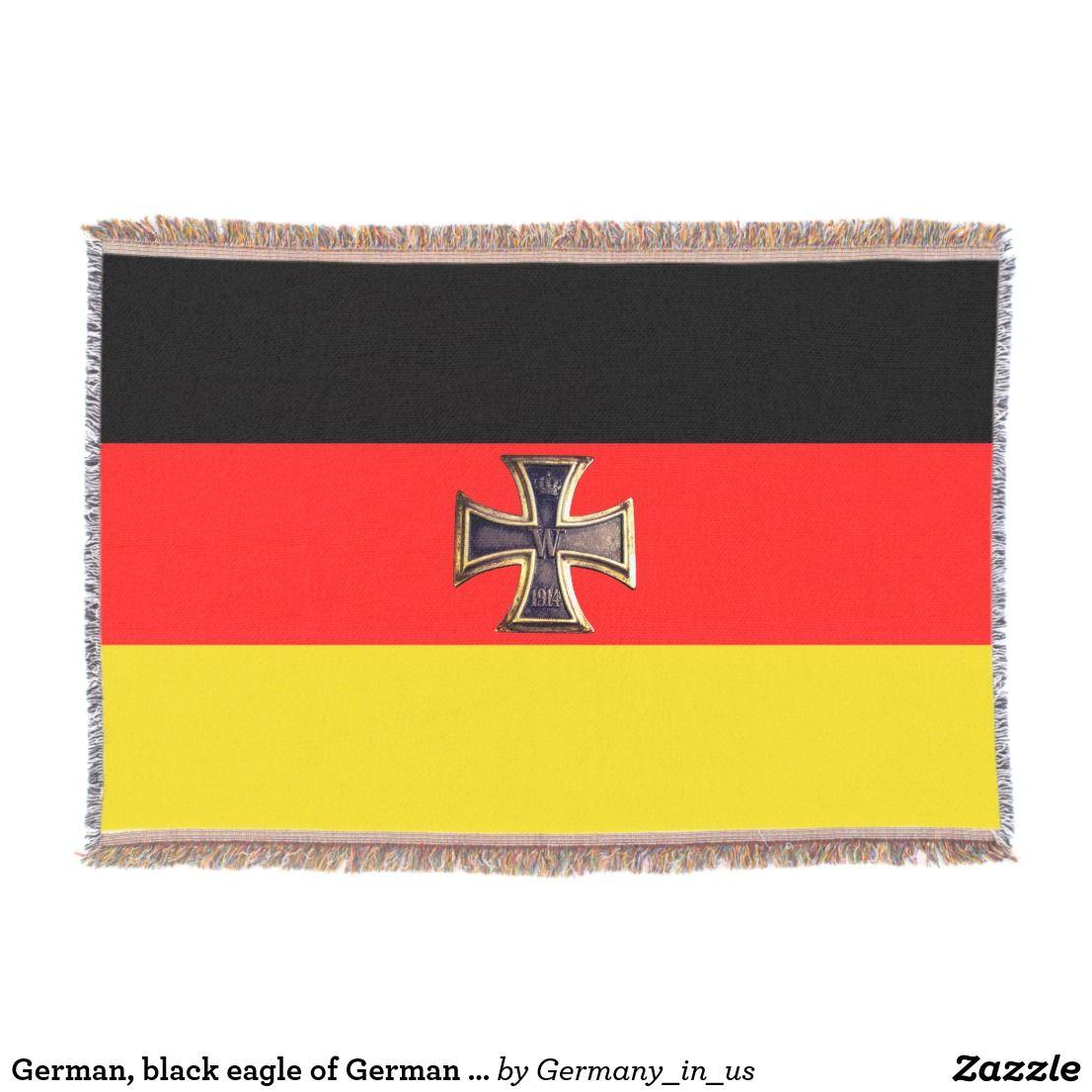 German Iron Cross Of German Flag Germany Throw Blanket Zazzle Com German Flag German Beer Steins German Steins