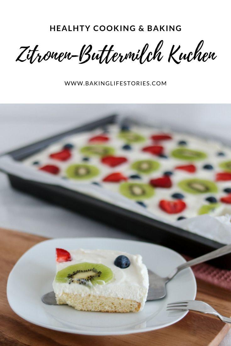 Photo of Lemon buttermilk cake in summer