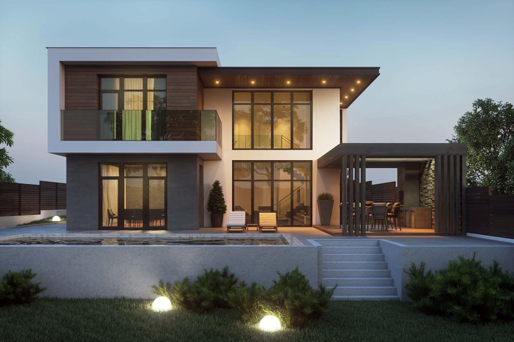 Modern Flat Roof Home Designs House Designs Exterior Modern