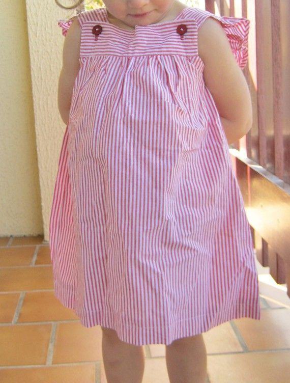Jolie robe avec manches volantées - Modèle Kohana