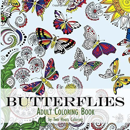 Adult Coloring Book Butterflies Designs Relaxing Art Therapy Anti Stress Fun New