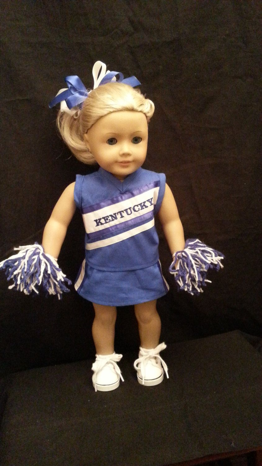 8cd7a3de57b Homemade 18 Inch Doll Clothes: KY Cheerleading Outfit Includes Top ...