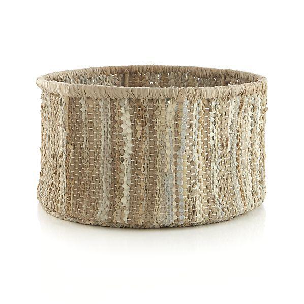 sami basket crate and barrel for storing living room blankets