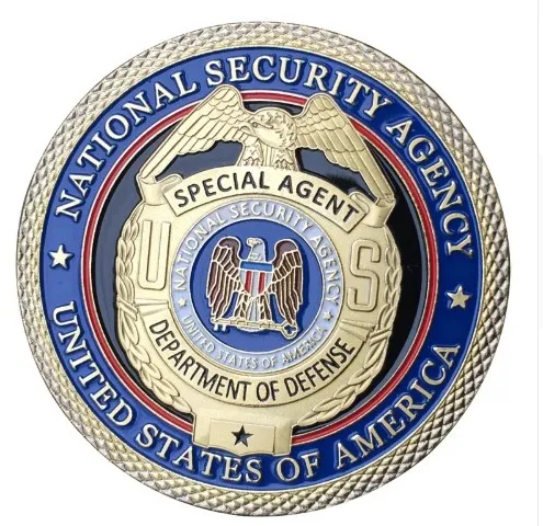 Us National Security Agent Nsa Badge Challenge Coin Police Challenge Coins Challenge Coins Military Challenge Coins