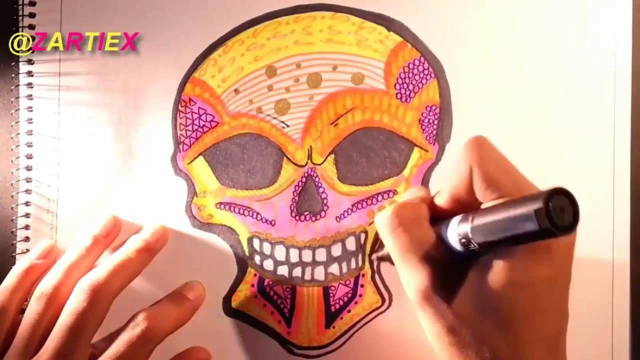 dibujos para dibujar calaveras mexicanas by zartiex