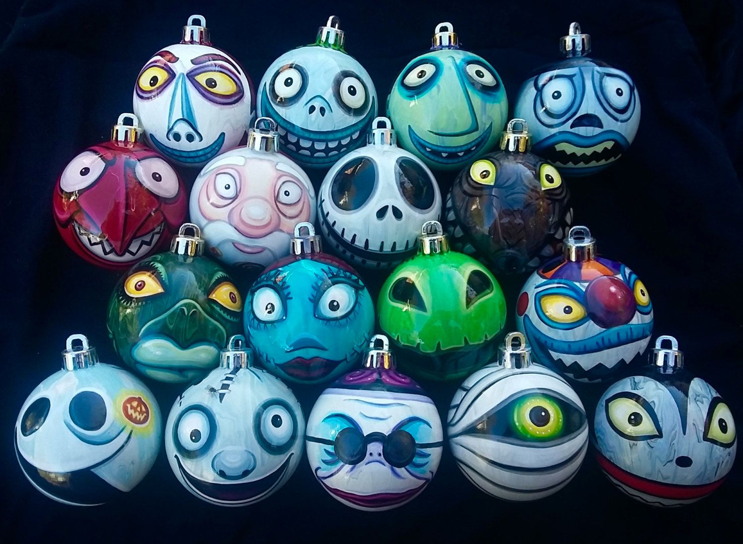 Any Character Nightmare Before Christmas Ornaments Pick Your Favorites Hand Painted Highly Detailed Shatterproof Made To Order In 2020 Nightmare Before Christmas Ornaments Nightmare Before Christmas Tree Nightmare Before Christmas Characters
