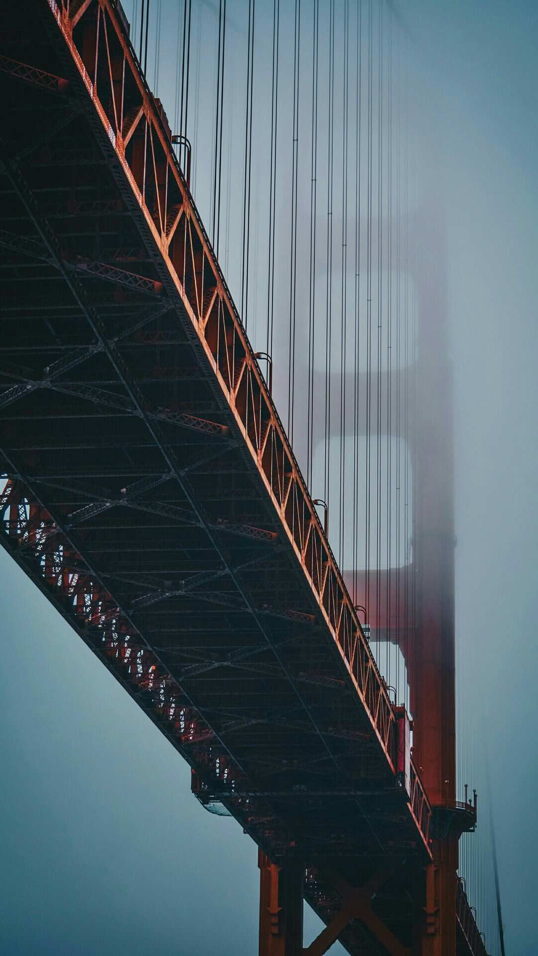 Golden Gate Bridge Fog Iphone Wallpaper In 2019 Bridge