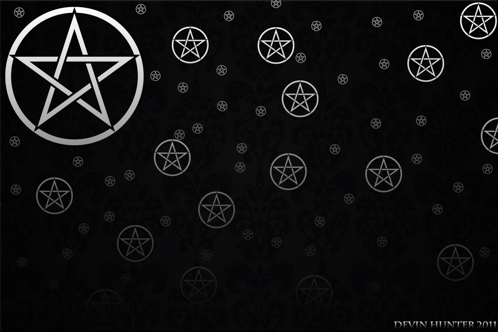 Wallpaper Text logo, Wicca, Pentacle