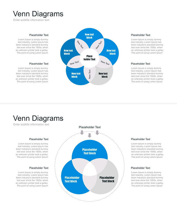 Venn Diagrams In Powerpoint Powerpoint Elements For Presentation
