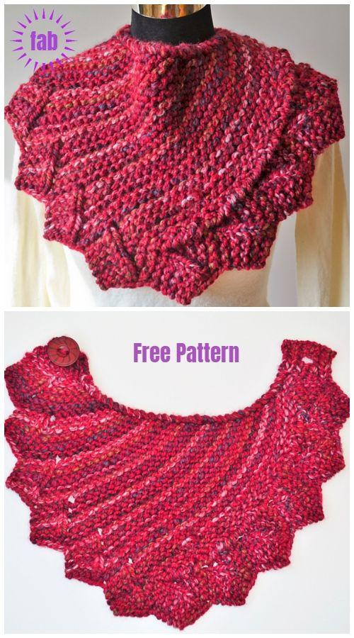 Knit Dragon Fire Cowl Free Knitting Pattern | lace tücher ...