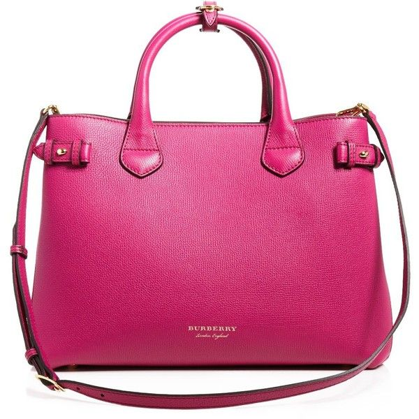 Liked On Polyvore Featuring Bags Handbags Tote Brilliant Fuschia Burberry Purses Purse And Pink