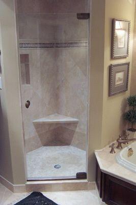 Eckdusche mit Sitzgelegenheit | Badezimmer | Pinterest | Eckduschen ...